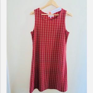 Jude Connally Beth Dress Red Chain Size L NWT $178